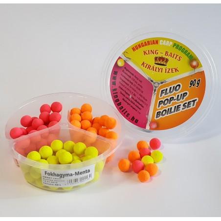 Fokhagyma-Menta CCM Fluo Pop-Up Boilie Set